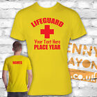 PERSONALISED LIFEGUARD STAG DO T-SHIRTS - WITH NAMES ON THE BACK - YELLOW GILDAN