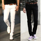STYLISH Men's Skinny Pencil Casual Pants Slim Jeans Trousers Male Leisure Slacks