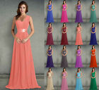 Bridesmaid Dress Long One Shoulder Prom Party Evening Formal Wedding Gowns 6-26