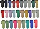 Folkespeare Mens Satin Plain Ties, 39 Color Options