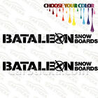 "2 of 8"" Bataleon Snowboards /A car truck window bumper stickers decals"