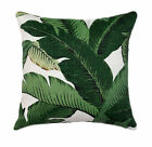 Green Palm Leaf Throw Pillow, Swaying Palms Aloe OUTDOOR Decorative Throw Pillow