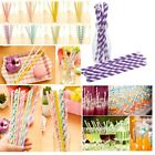 25pc/Pack Pretty Color Paper Drinking Straws Wedding Birthday Party 20 Styles