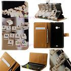 For Sony Huawei Phone P9 Z5 Luxury Flip Wallet Card Leather Case Cover Skin XH