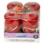 PACK OF 4 RED BERRIES SCENTED VOTIVE CANDLES BRAND NEW