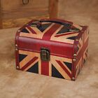 Decorative Jewelry Treasure Storage Tool Box PU Vintage Suitcase Retro Chest
