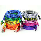 1m&2m&3m Braided Fabric Micro USB Data&Sync Charger Cable Cord For Cell Phone