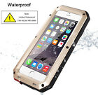 Metal Shockproof Military Heavy Duty Tempered Glass Cover Case for iPhone 6 6S +