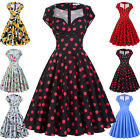 Plus Size Ladies Housewife Ploka/Floral Swing Pinup 50s 60s Retro Vintage Dress