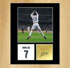 Cristiano Ronaldo Signed Mounted Photo Display Real Madrid FC Portugal