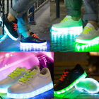Kids Boys/Girls LED Light Luminous Lace Up Shoes USB Charger Trainers Sneakers