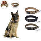 "1.5"" Tactical Heavy Duty Training Nylon Dog Collar w/ Handle Metal Buckle"