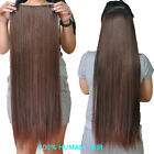Delux One Pieces Clip In 100% Remy Human Hair Extensions Full Head 22 inches