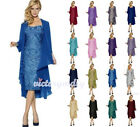 Chiffon Jacket Mother of The Bride Lace Dress Formal Dress Ball Gown Size 6-20+