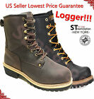 LM Men's Work Boots Rugged Pioneer Logger Boot Steel Toe Goo