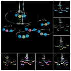 Wine Glass Markers,Tags,Charms- Glow-in-the-Dark/ Black Light - Set of 6- Silver