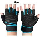 Weight lifting Gym Gloves Training Fitness Wrist Wrap Workout Exercise Sports