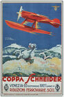 Coppa Schneider Vintage Poster, Umberto Di Lazzaro 1927 Metal Wall Plaque Sign