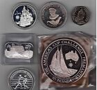 TONGA - 6 dif SILVER PROOF coins set