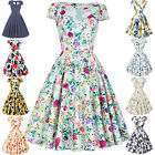 New Womens Vintage 1950'S Retro Evening Party Skater Pin Up Swing Cocktail Dress