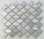 Cosmo Brushed Aluminum Arabesque Mosaic Tiles - Kitchen Backsplash Tile