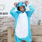Unisex Children Cute Animal Costume Sleepwear Flannel Zipper Hoodies Fancy Dress