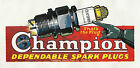 Large 'Vintage Champion Spark Plug Advert ' Tin Sign Tin Plaque