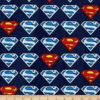 Superman DC Comics Superman Style Logo Flannel Cotton Fabric CHOICE YOUR LENGTH