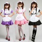 Girl uniform Cosplay party lolita Costume Sexy Dress Ruffle Maid Outfit 6-12 Hot