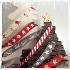 Christmas Ribbon 1M Robin Star Gingerbread Man Dove Candy Stripe Berisfords
