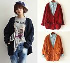 Women Loose Twisted Knit Chunky Jacket Oversized Cardigan Casual Jumper Sweater
