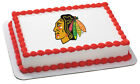NHL CHICAGO BLACKHAWKS LOGO EDIBLE CAKE TOPPER $8.99 USD on eBay