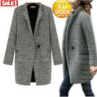 Fshion New Women's Jacket Coat Overcoat Casual Slim Fit Trench Park