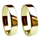 8mm 18ct Yellow Gold Wedding Rings Flat Profile 750 UK HM Heavy Extra Heavy Band