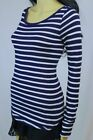POLO Ralph Lauren rounded neck long sleeve top ~Navy and white stripes ~NWT~