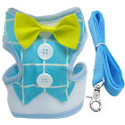 Soft Mesh Dog Harness and Leash Pet Puppy Gentleman Tuxedo Suit for Small Dogs