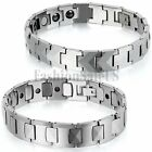 Men's Charm Glossy Wide Tungsten Carbide Health Powerful Magnetic Bracelet Chain