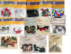ASSORTMENT OF CHRISTMAS CARDMAKING/SCRAPBOOKING BUTTONS 14 DESIGNS TO CHOOSE