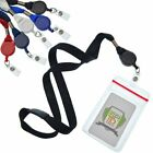 5 Pack - Badge Reel Lanyards with Ziplock Badge Holders by Specialist ID