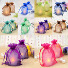 Внешний вид - 25 50 100Pcs Sheer Organza Wedding Party Jewelry Pouch Favor Gifts Candy Bags