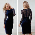 2015 New Women Sexy Long Dress Hollow Out Bodycon Full Sleeve Fashion Dresses