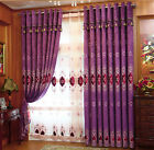 Luxury curtain Chenille drapery window curtain embroidery sheers blackout lining
