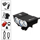 Solarstorm 10000Lm 3*CREE XML T6 LED Front Bicycle Light Lamp 6400mAh+Taillight