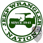 Jeep Nation,Since 1941,Jeep life,50 cal,Jeeper,4x4,Jeeping,Off Road,Vinyl Decal,