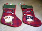 Fab Buttons Cat design luxury felt Christmas Stocking