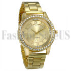 Women's Ultrathin Gold Rose Gold Silver Tone Mesh Band Analog Quartz Wrist Watch