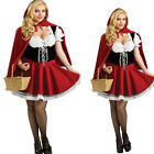 Sexy Ladies Little Red Riding Hood Halloween Costume Fancy Dress Plus - S-4XL