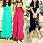 AU SELLER BOHO Sexy Strapless Party Beach Long Dress/Bikini Cover Up dr055