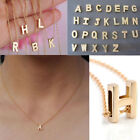 Внешний вид - Fashion Womens Gold Plated Initial Alphabet Letter A-Z Pendant Chain Necklace