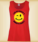 I AM NO LONGER A DANGER TO SOCIETY FUNNY - MUJER CHALECO LADIES SLIM VEST